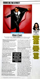 Evening Standard Interview with Alan Carr